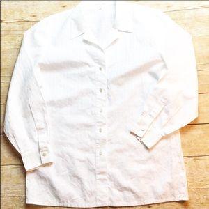 Vintage escada white button up blouse sz 10